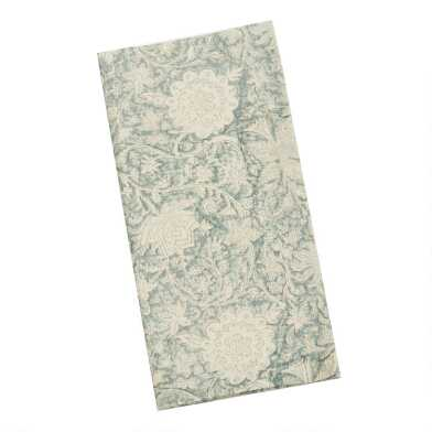 Sage Floral Print Napkins Set of 4