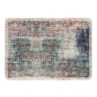 Distressed Rug Print Samode Placemats Set of 4
