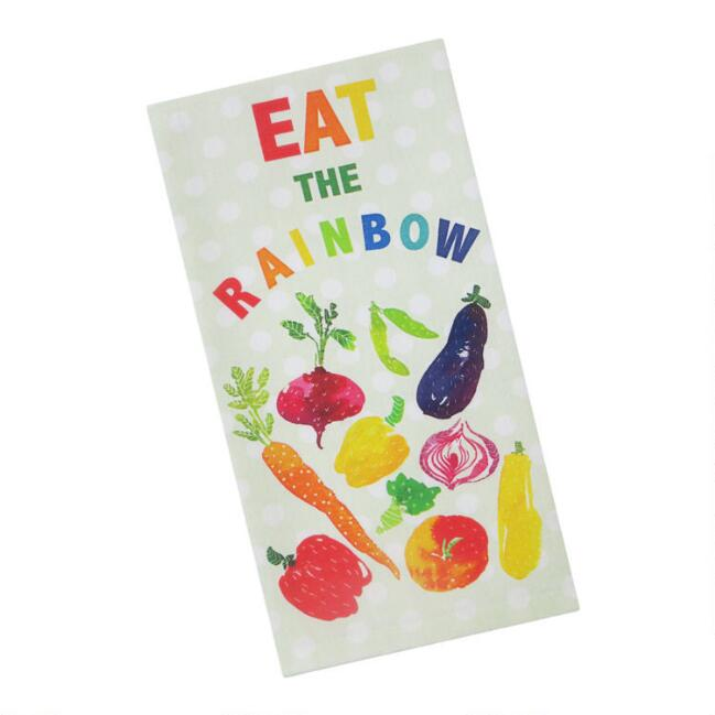 Eat The Rainbow Kitchen Towel