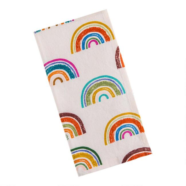 Colorful Rainbow Kitchen Towels Set of 2