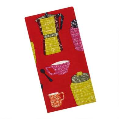 Red Tea and Coffee Kitchen Towel Set of 2