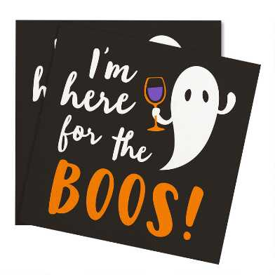 20 Count Here for the Boos Beverage Napkins Set of 2