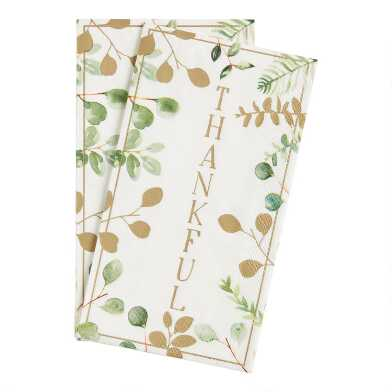 20 Count Thankful Guest Napkins Set of 2