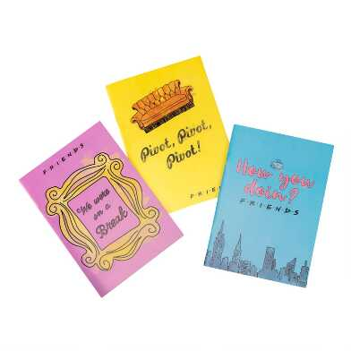 Friends Quotes Journals 3 Pack