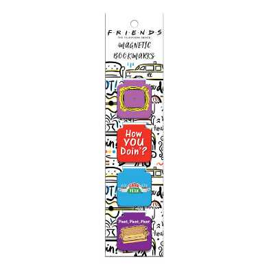 4 Pack Friends Magnetic Bookmarks Set of 2