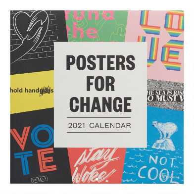 Posters for Change 2021 Wall Calendar