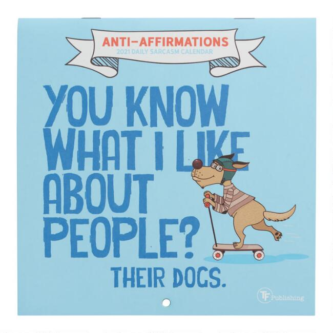 Mini Anti Affirmations 2021 Wall Calendar