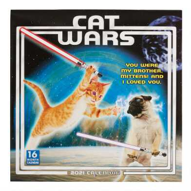 Cat Wars 2021 Wall Calendar