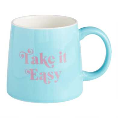 Blue Take it Easy Mug