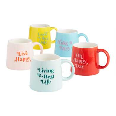 Happy Home Ceramic Mug Collection