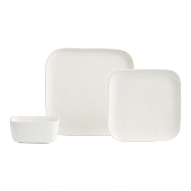 Square Ivory Element Dinnerware Collection