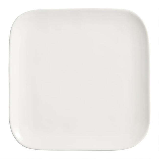 Square Ivory Element Salad Plates Set of 4