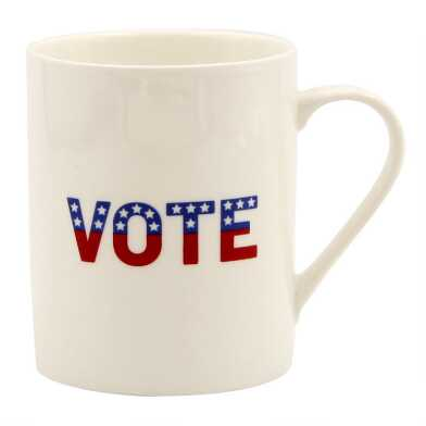 White Vote Mug Set of 2