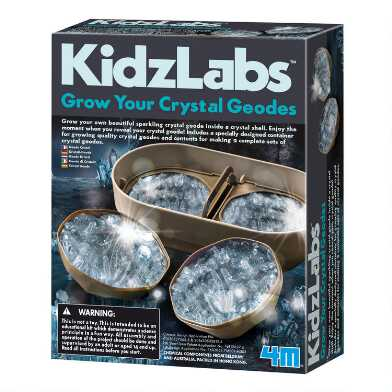 4M KidzLabs Grow Your Crystal Geodes Science Kit
