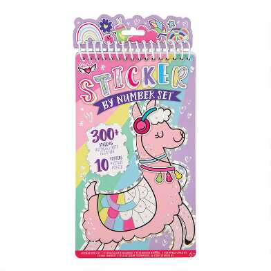 Llama Sticker By Number Activity Book