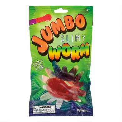 Jumbo Gummy Worm Slime Toy Set of 2