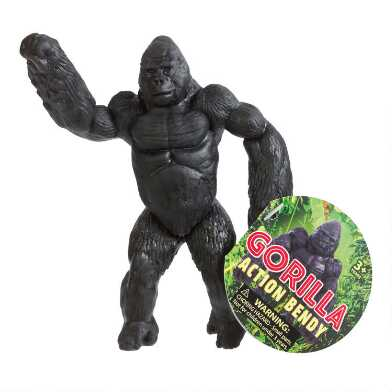 Gorilla Action Bendy Toy Set of 2