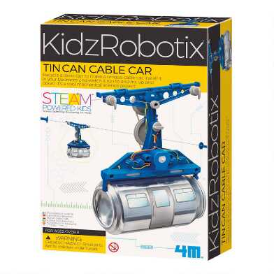 4M KidzRobotix Tin Can Cable Car Science Kit