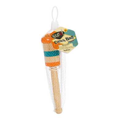 Toysmith Wooden Catch Ball Toy Set of 2