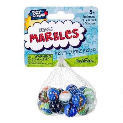 Toysmith Multicolor Classic Marbles Set of 3
