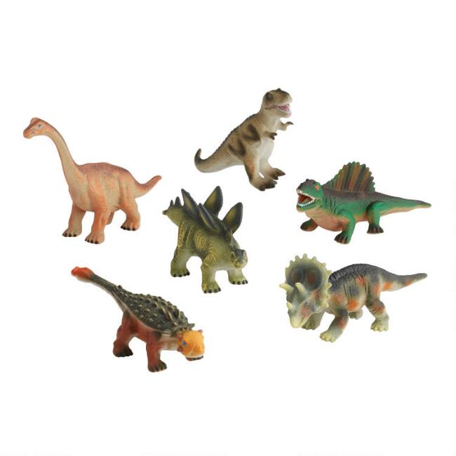 Squeezable Dinosaurs Set of 6