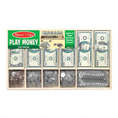 Melissa & Doug Classic Play Money Set
