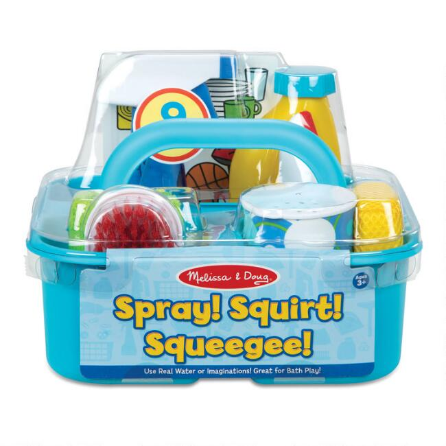 Melissa & Doug Spray Squirt Squeegee Cleaning Play Set