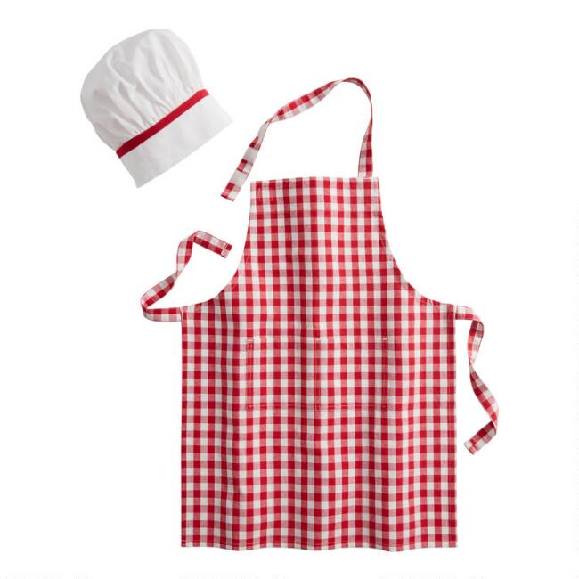Kids Chef Hat And Apron Dress Up Set