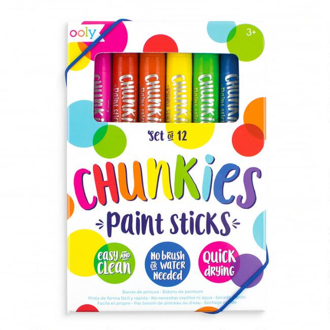 Ooly Chunkies Classic Paint Sticks 12 Pack