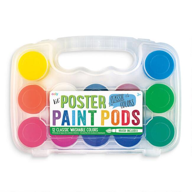 Ooly Washable Poster Paint Pods 12 Pack