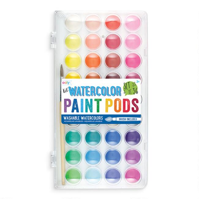 Ooly Washable Watercolor Paint Pods 36 Count