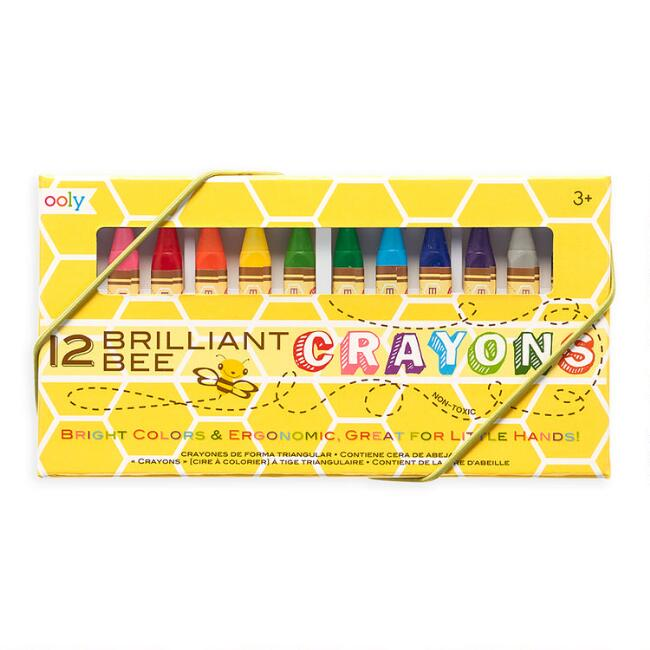 Ooly Brilliant Bee Crayons 12 Pack