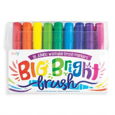 Ooly Big Bright Brush Markers 18 Pack