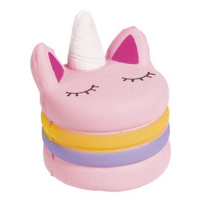 Toysmith Unicorn Macaron Squishy Toy Set of 2