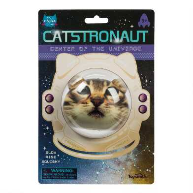Toysmith Catstronaut Slow Rise Squishy Toy Set of 2