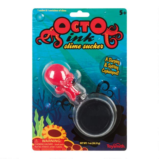 Toysmith Octopus Ink Slime Sucker Set of 2