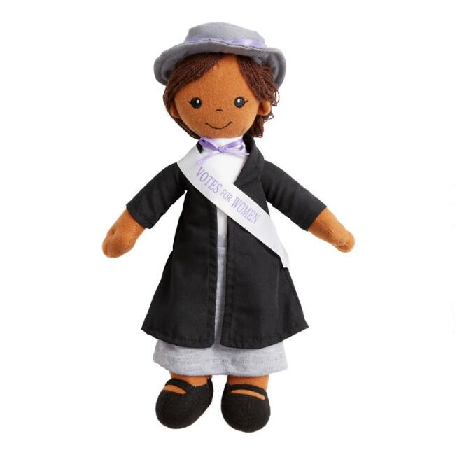 Wildlife Artists Plush African American Suffragist Doll