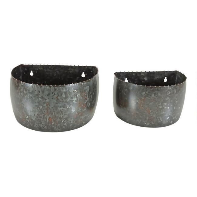 Black and Copper Metal Wall Mounted Planter
