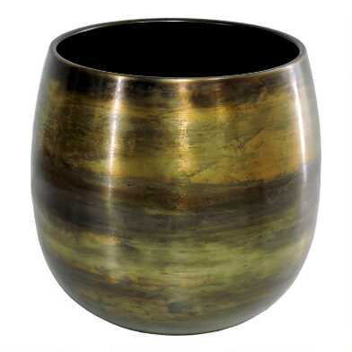 Aged Brass Floor Planter