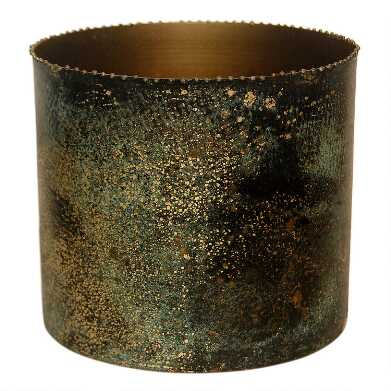 Gold and Black Patina Beaded Planter