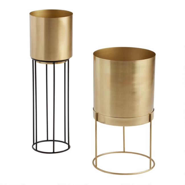 Gold Karson Planter with Stand
