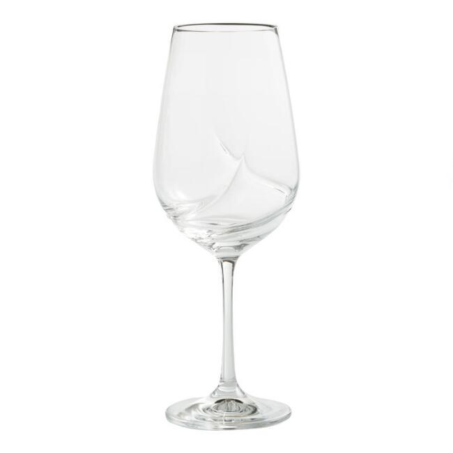 Crystal Swirl Bordeaux Wine Glasses Set of 6