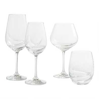 Crystal Swirl Glassware Collection