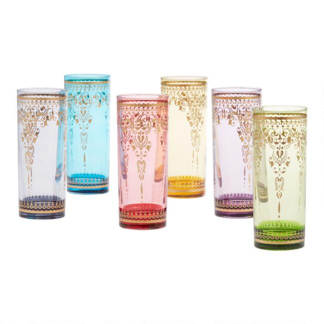 Moroccan Highball Glasses Set of 6