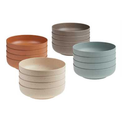Bamboo Fiber and Recycled Coffee Ground Bowls 4 Pack