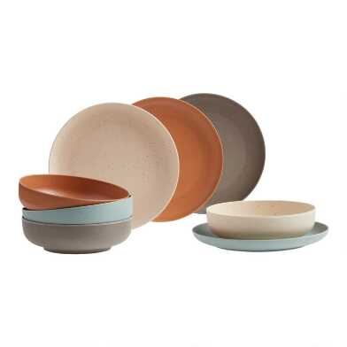 Bamboo Fiber and Coffee Grounds Dinnerware Collection