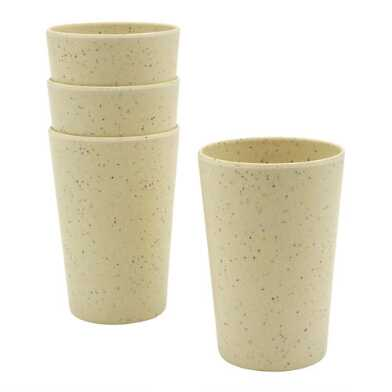 Bamboo Fiber and Recycled Coffee Ground Cups 4 Pack