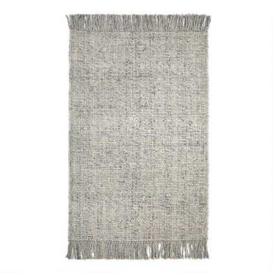 Light Gray Sweater Wool Finn Area Rug