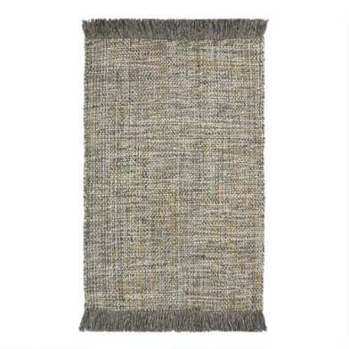 Dark Gray Sweater Wool Finn Area Rug