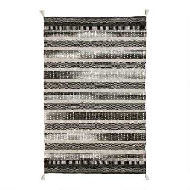Geometric Striped Cotton and Wool Levi Area Rug